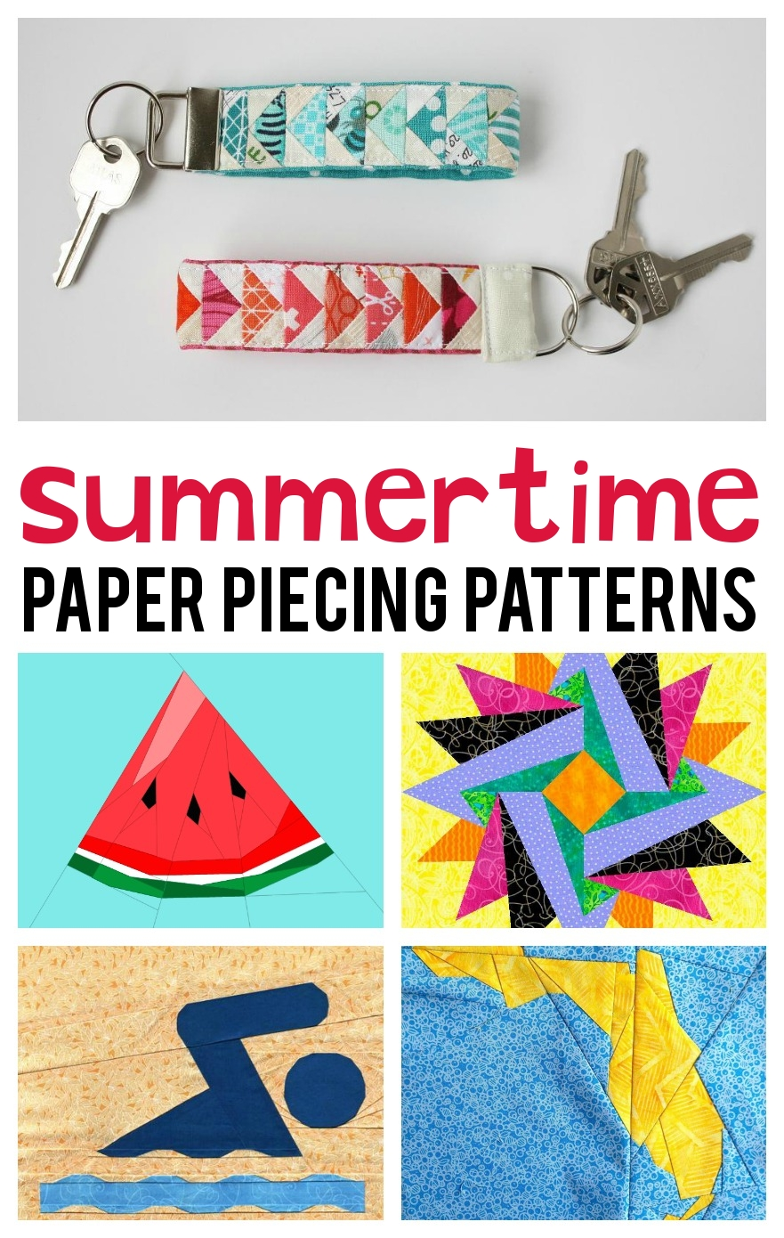 Summertime Paper Piecing Patterns