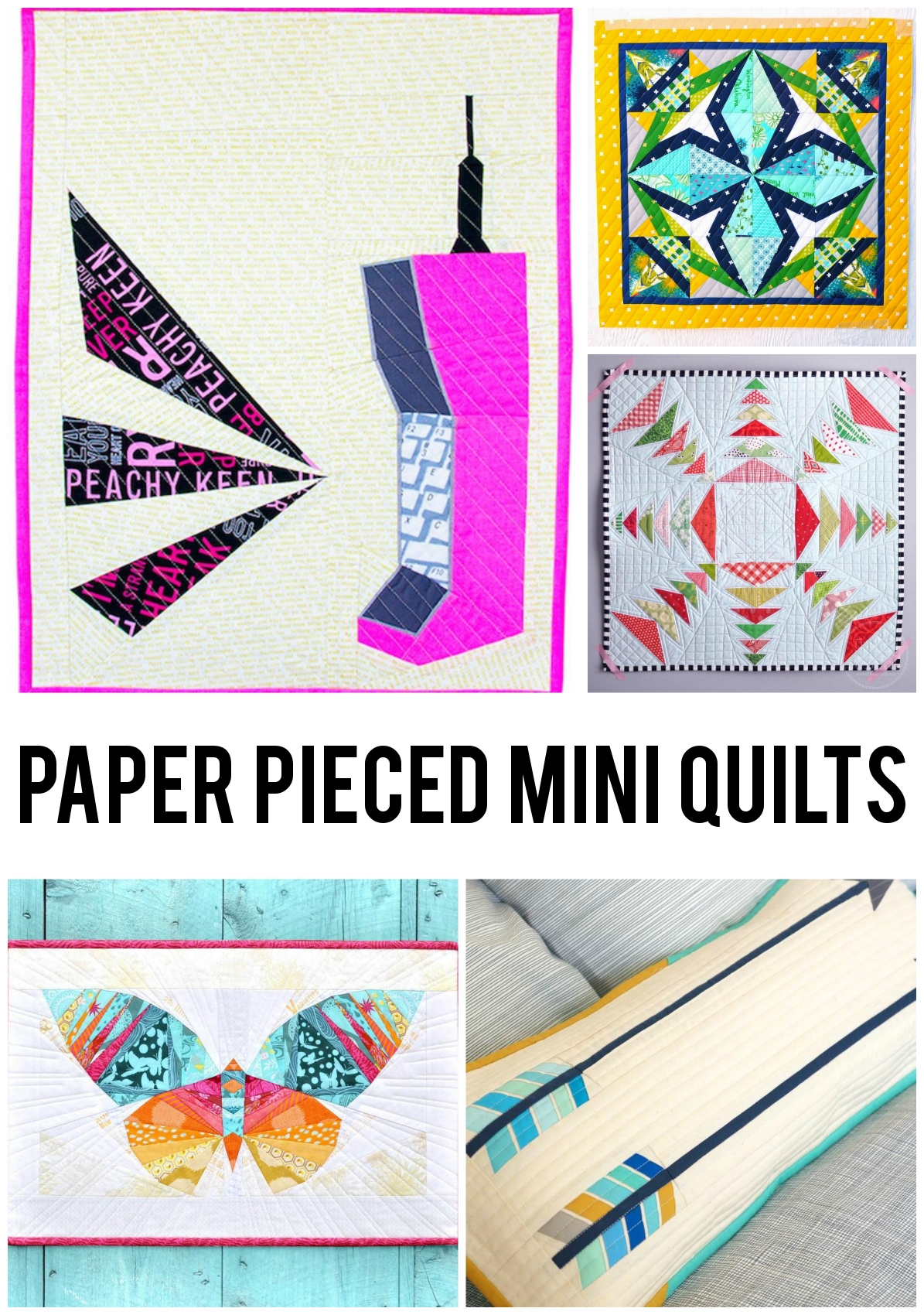Paper Pieced Mini Quilts