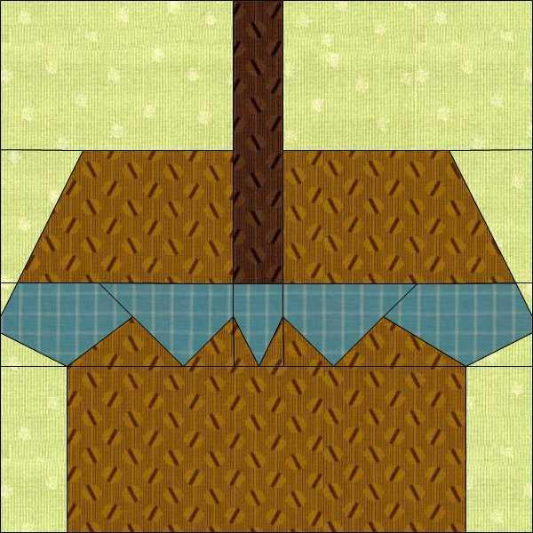 Picnic Basket Paper Pieced Quilt Pattern