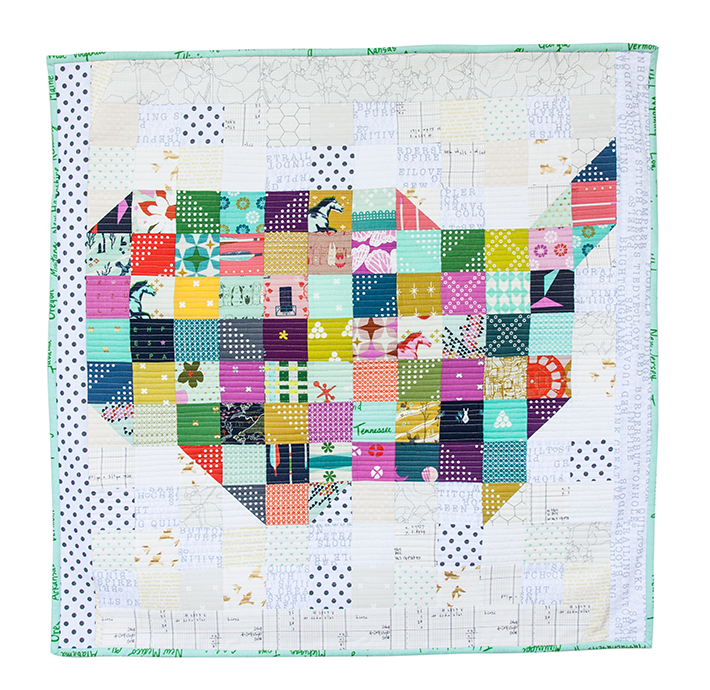 Scrappy USA Wall Quilt