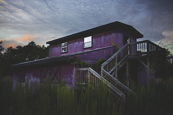 first Image of a purple Barn