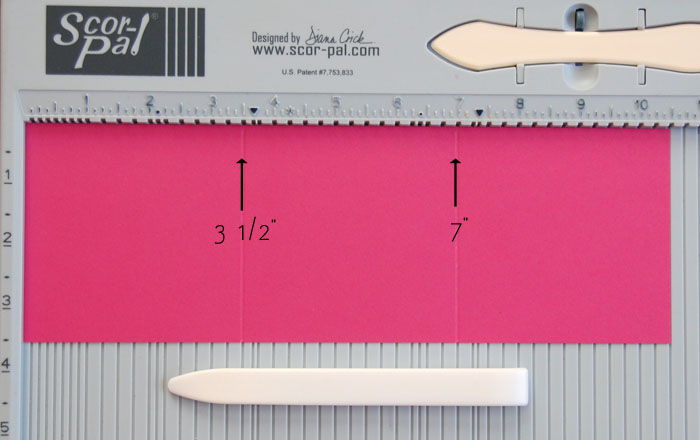 Step 1 Cut and score to create equal panels