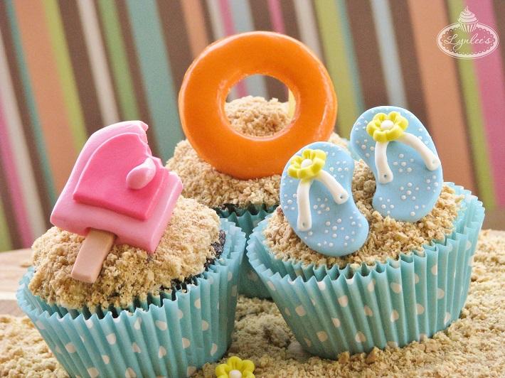 Summer beach cupcake tutorial