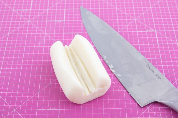 Cut pedestal