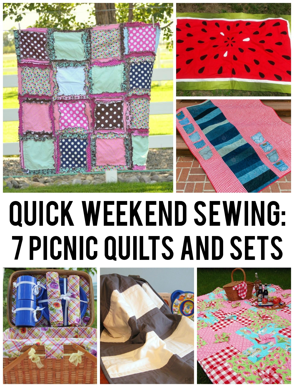 7 Picnic Quilts and Sewing Patterns