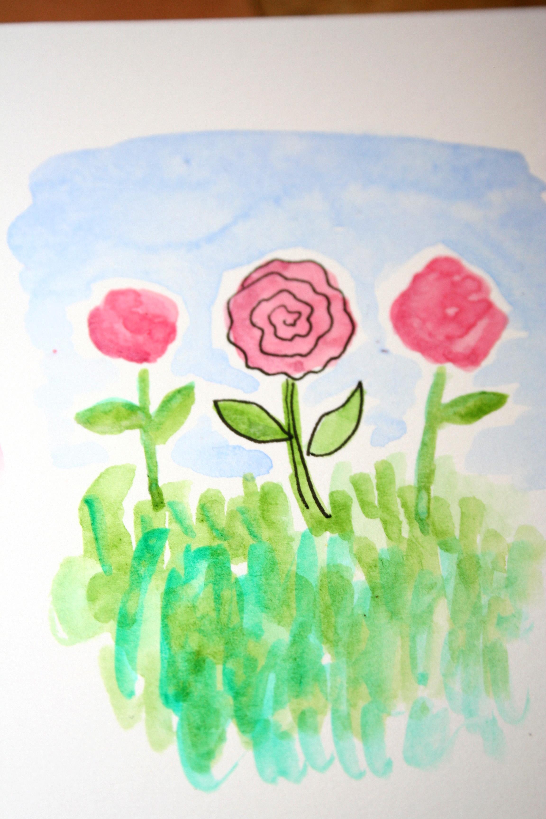 Textured Watercolor Garden