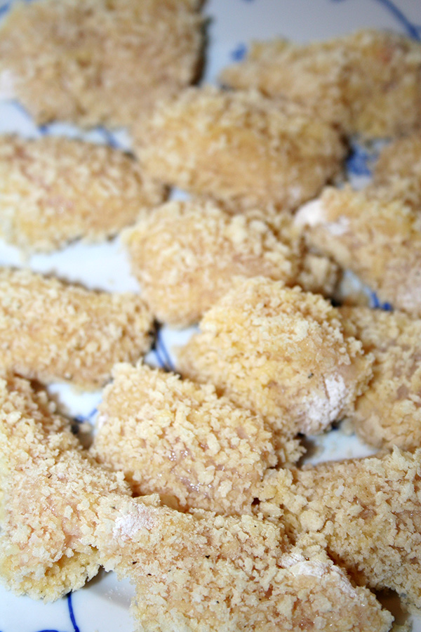 Nuggets before frying