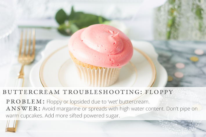 Solve your buttercream woes with these top buttercream troubleshooting tips!