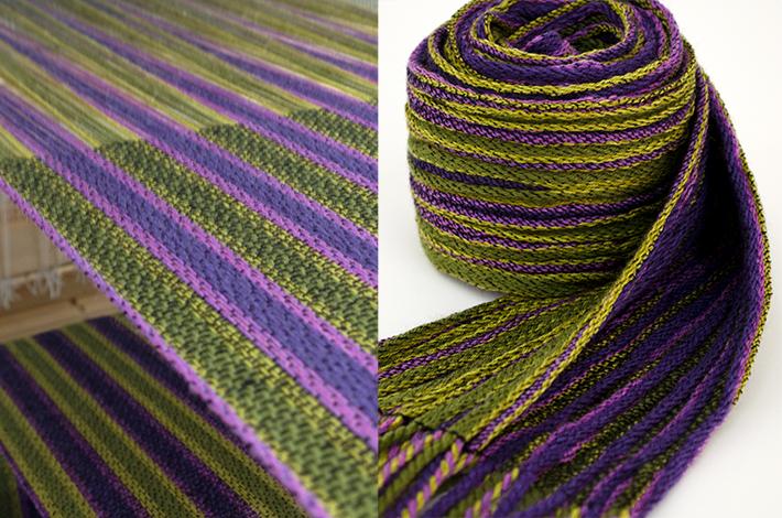 pleated twill scarf