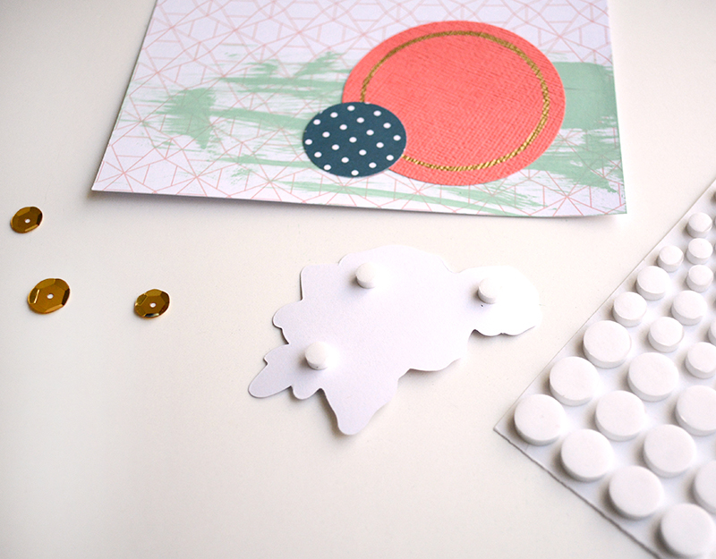 Foam Circles on Card Embellishments