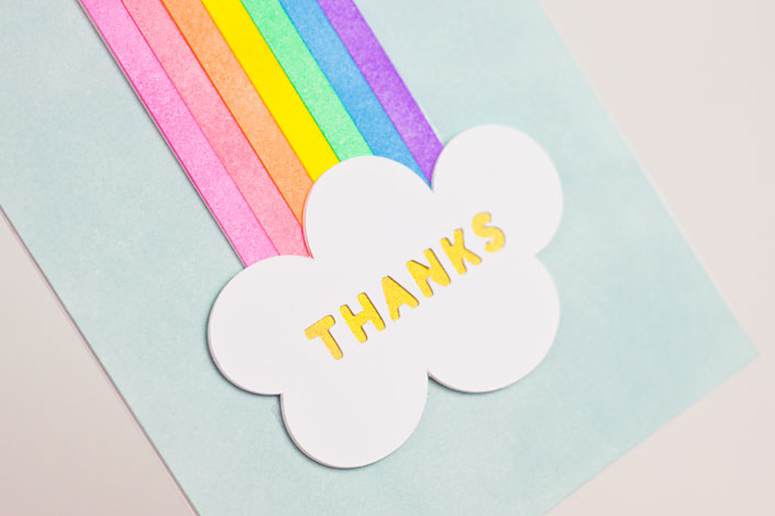 Coloring With Ink : DIY Rainbow Thank You Card