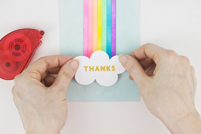 Coloring With Ink : DIY Rainbow Thank You Card, Step 6