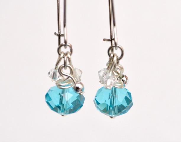 Crystal Dangle Earrings Tutorial