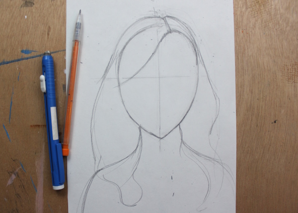 Outline of hair