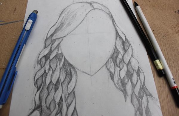 Shading curly hair