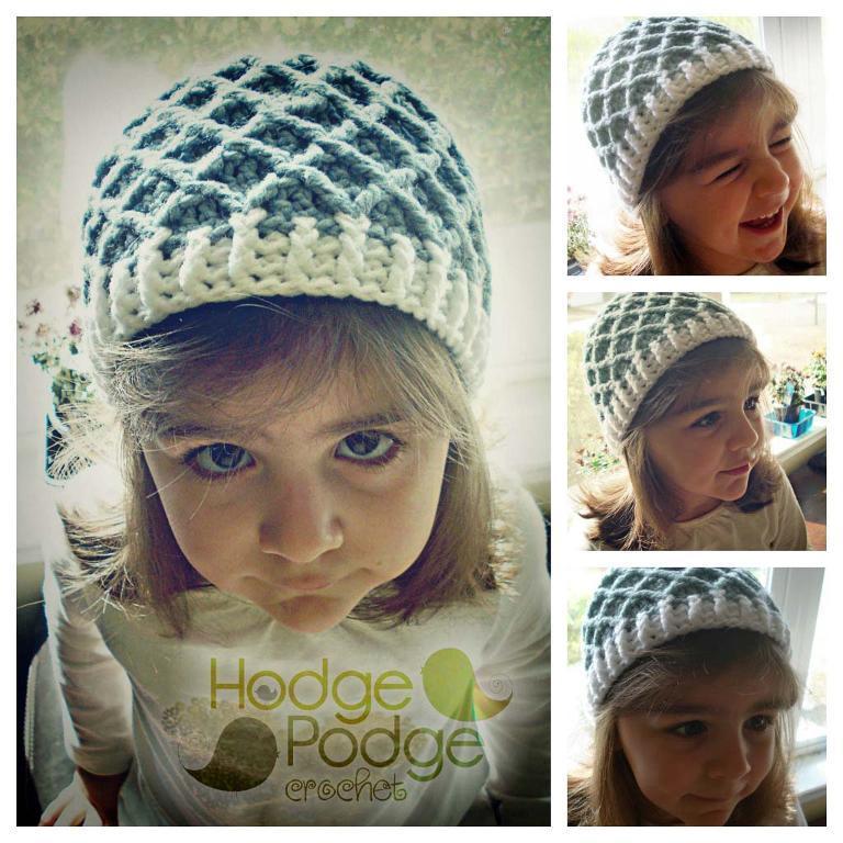 diamond stitch crochet hat pattern