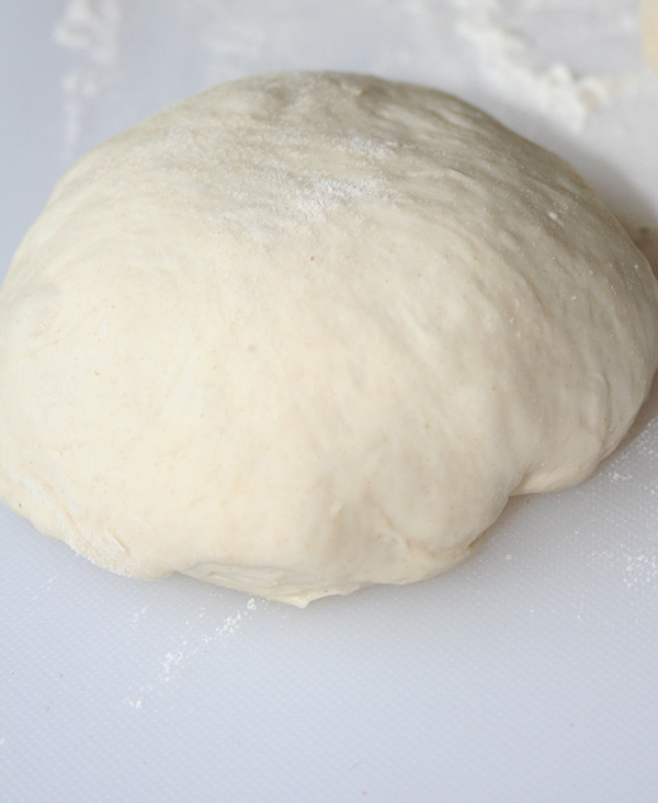 No knead and no rise pizza dough ready to roll