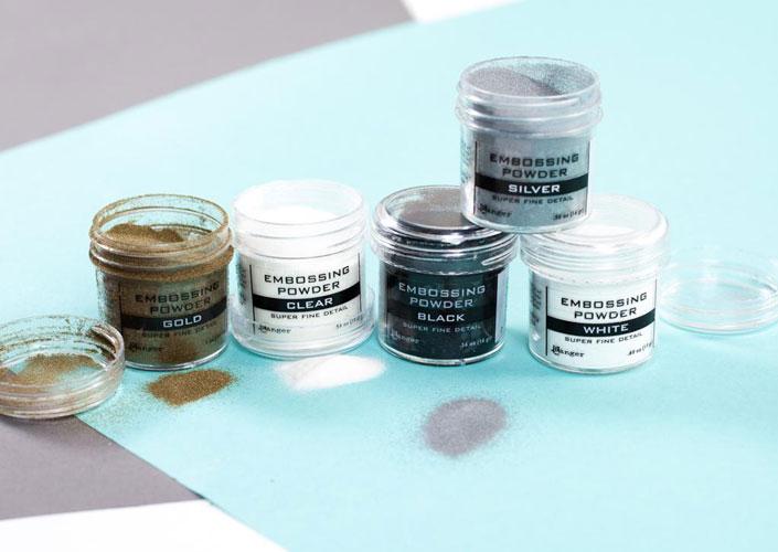Embossing Powders in Multiple Colors