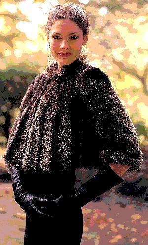 Raccoon Jacket Knitting Pattern for Faux Fur Wrap