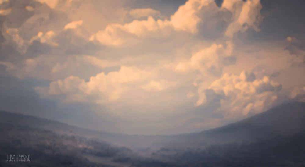 finished PhotoShop of cloud landscape image