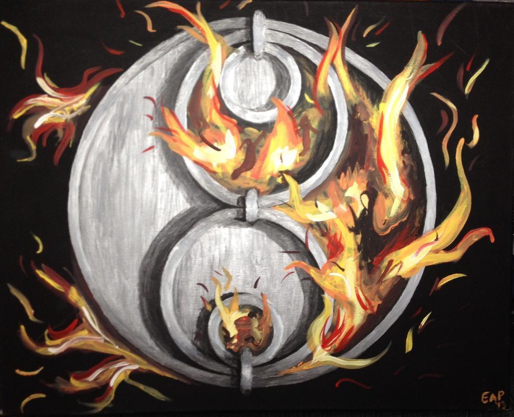 Flaming logo