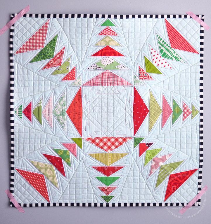 Snow Star Paper Pieced Quilt