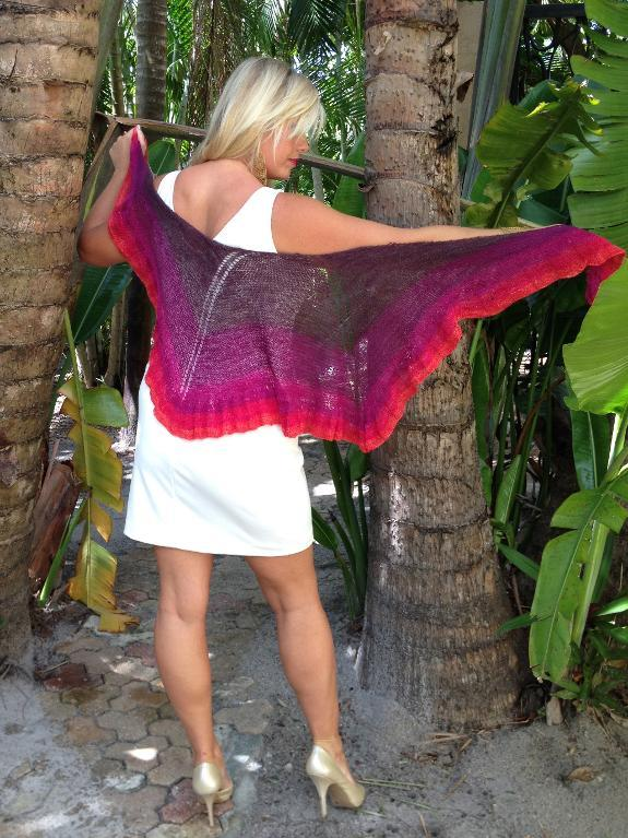 Marilyn on Sunset Knit Shawl Pattern