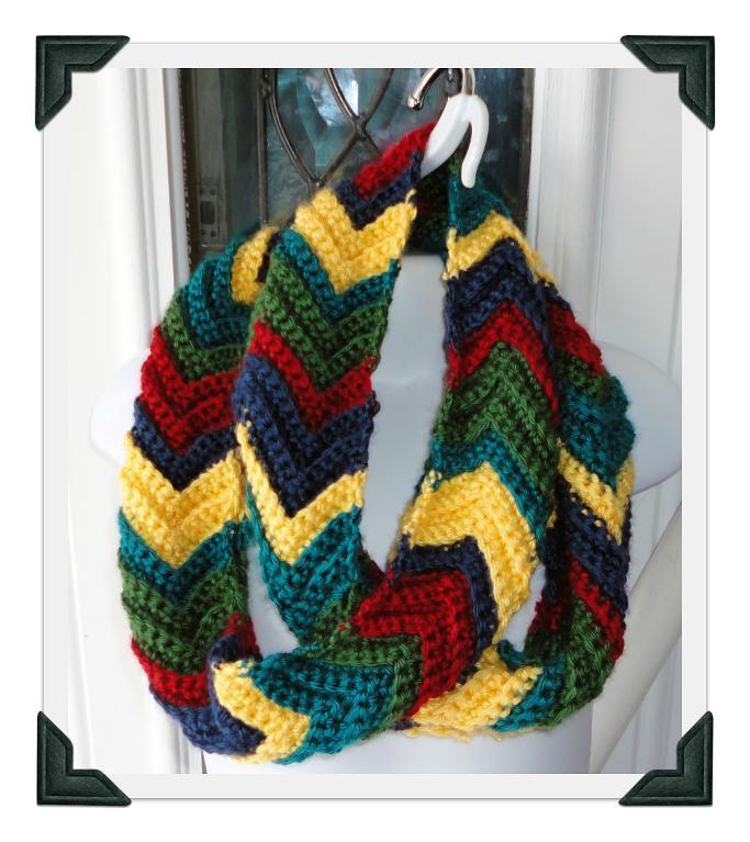 Ripple Infinity Scarf FREE Crochet Pattern