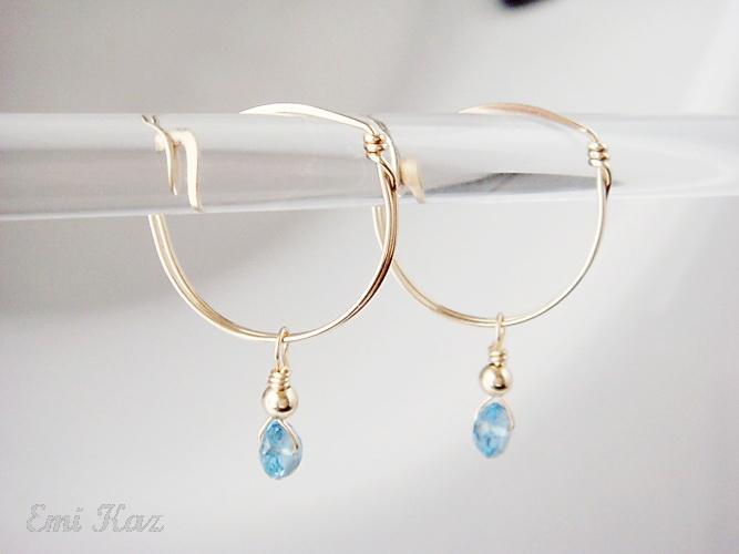 Interchangeable Charms Hoops Earrings