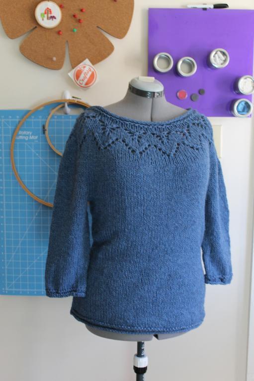 Lace Yoke Sweater