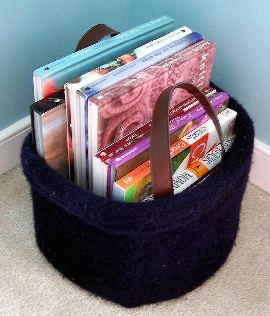 Felted Basket Bucket Knitting Pattern
