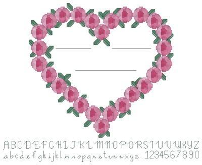 Cross stitch pattern great for wedding cards by DJ's Dream