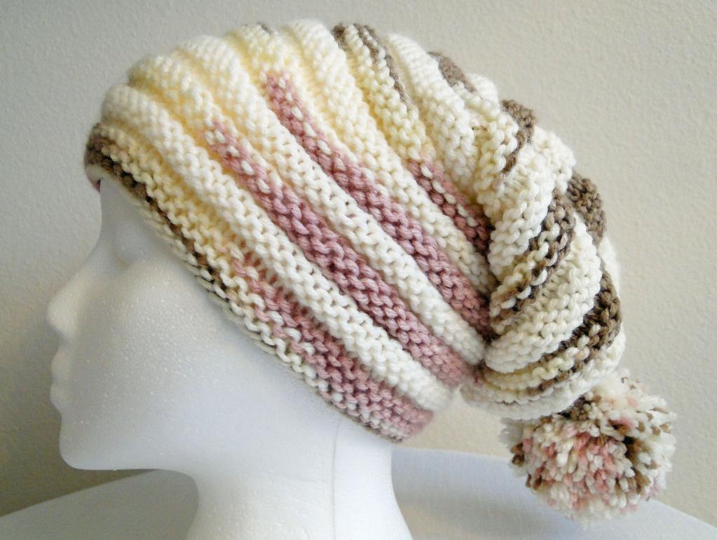 Neapolitan Ribbed Stocking Hat Knitting Pattern