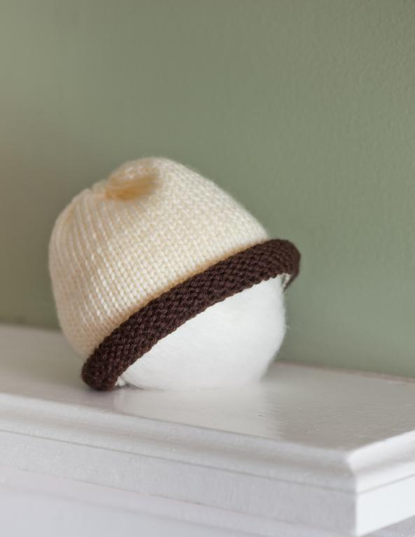 Free Rolled Baby Hat Knitting Pattern