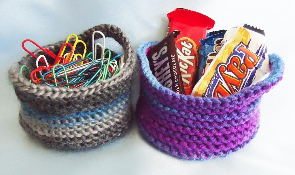 Desk Bowls Knitting Pattern