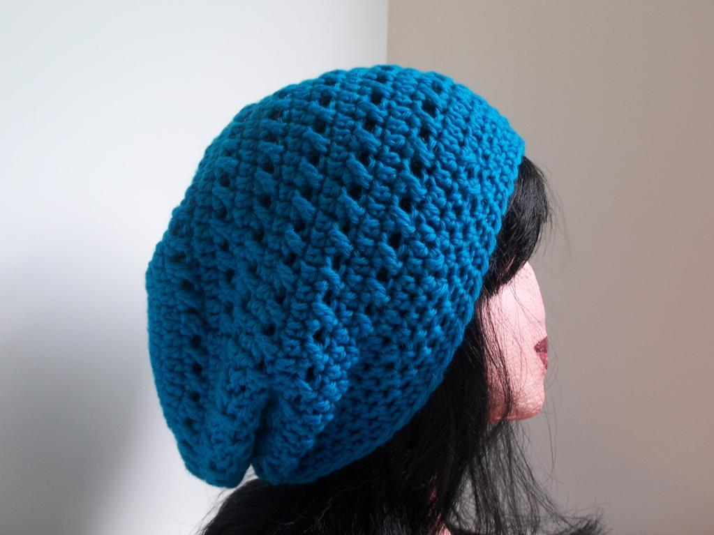 Kisses Slouchy Hat Beanie Crochet Pattern