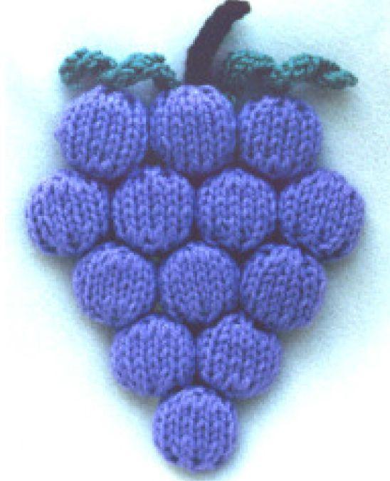 Bottle Cap Grape Trivet Knitting Pattern