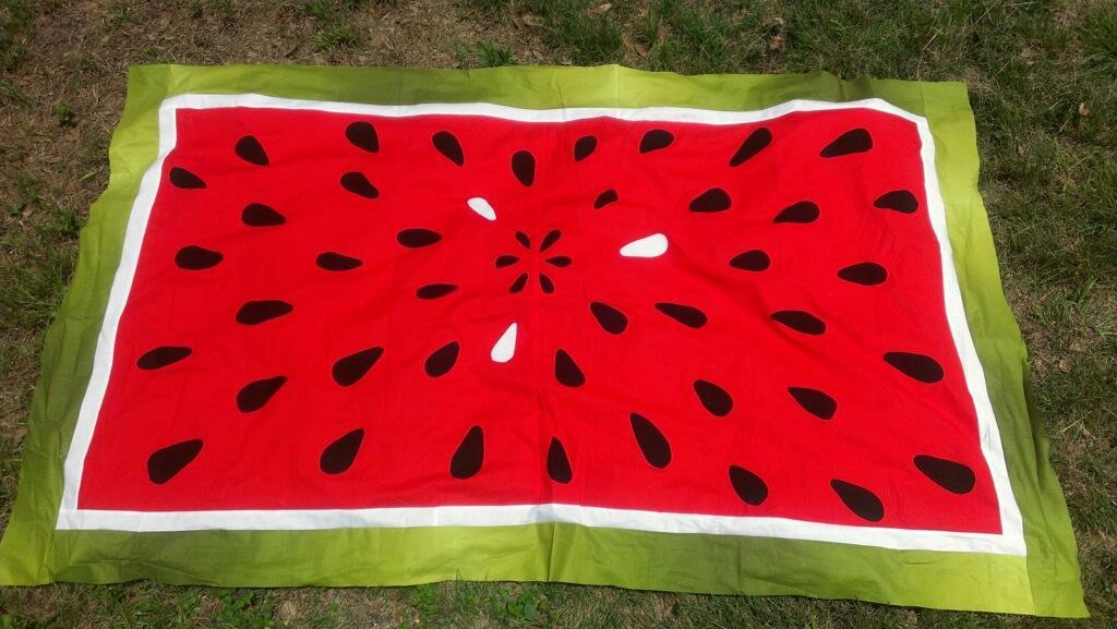 Watermelon Feast picnic quilt