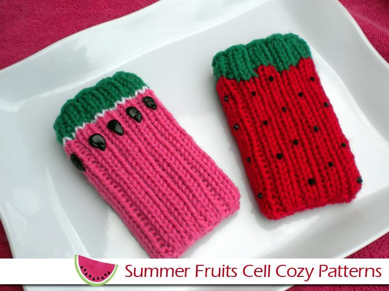 Summer Fruits Cell Cozies Knitting Pattern
