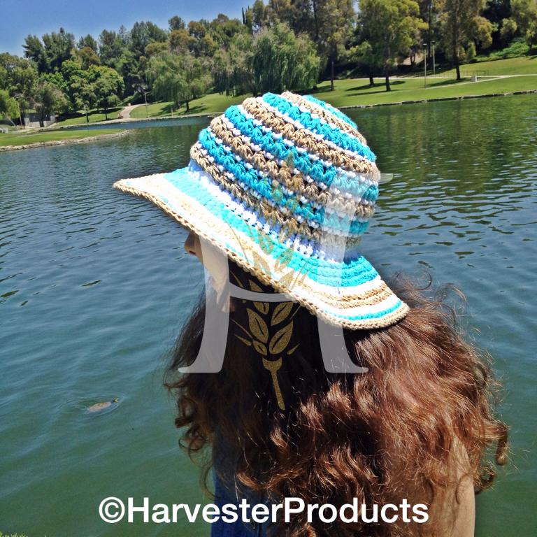Maui Beach Sunhat Ensemble Crochet Pattern