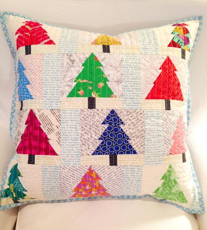 Christmas trees pieced patchwork trees