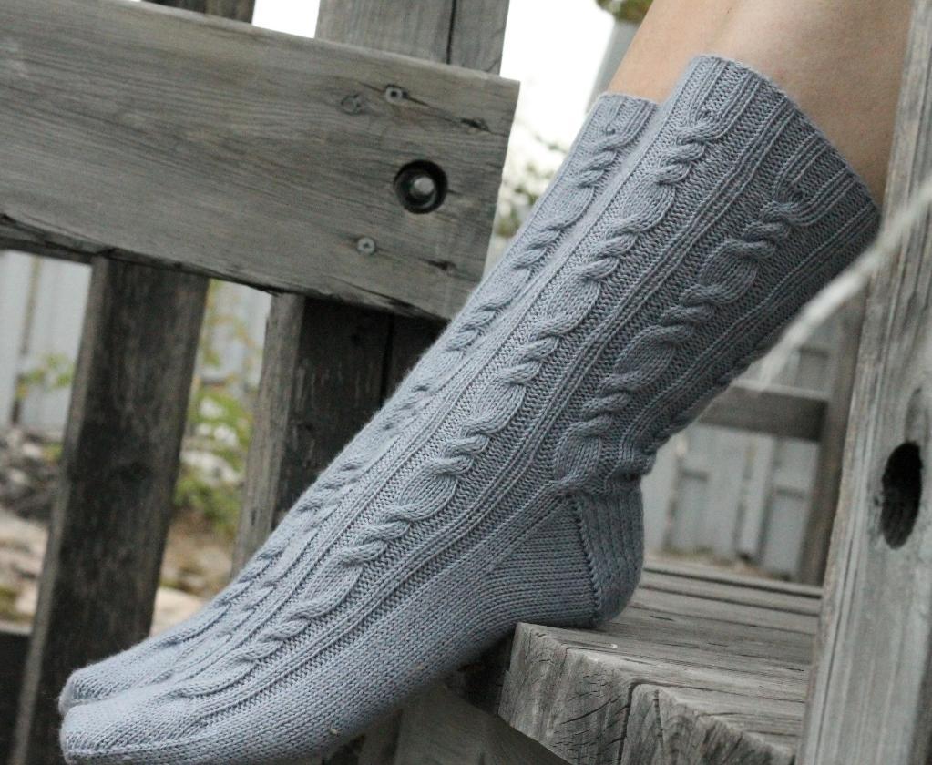 Ocean Mist Socks Knitting Pattern