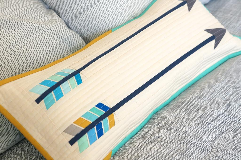 Feathered Arrow paper pieced pillow