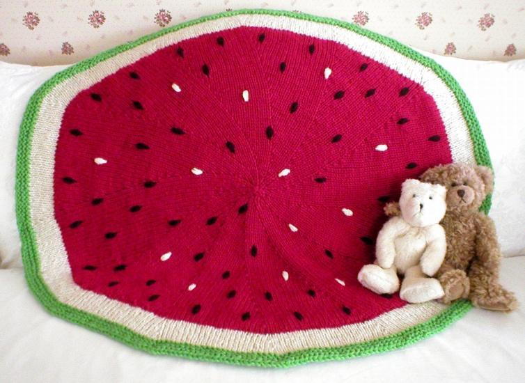 Watermelon Baby Blanket Knitting Pattern