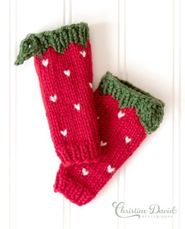 Strawberry Leg Warmers Knitting Pattern