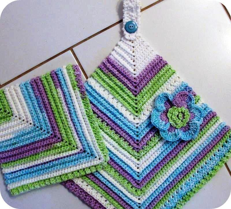 3 Piece Scrubbie Towel Set Vintage Look Crochet Pattern