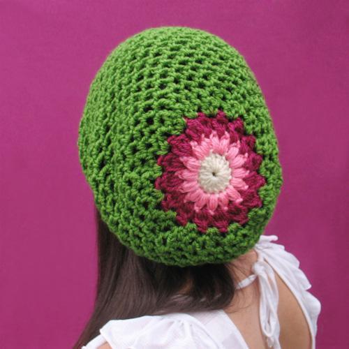 Spring Blossom Slouchy Hat Crochet Pattern