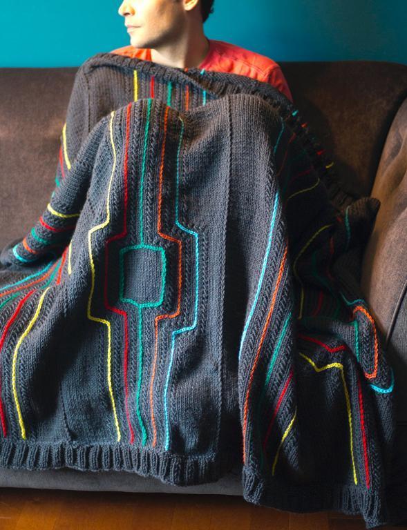 Modern Lines Throw Knitting Pattern