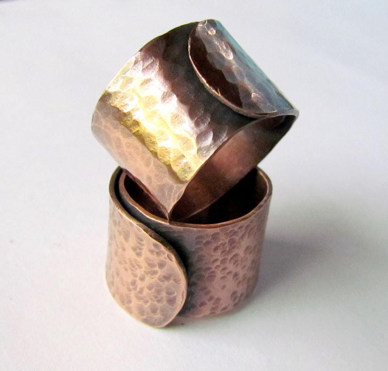 Hammered Copper Ring Jewelry