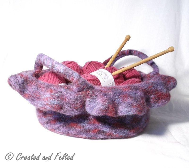 Rosetta Felt Bag Knitting Pattern